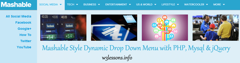 Mashable Style Dynamic Drop Down Menu with jQuery