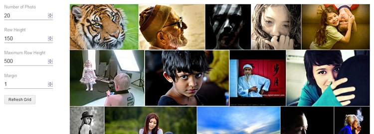 jQuery Justify Images