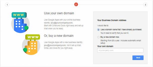 Domain Configuration Google Apps