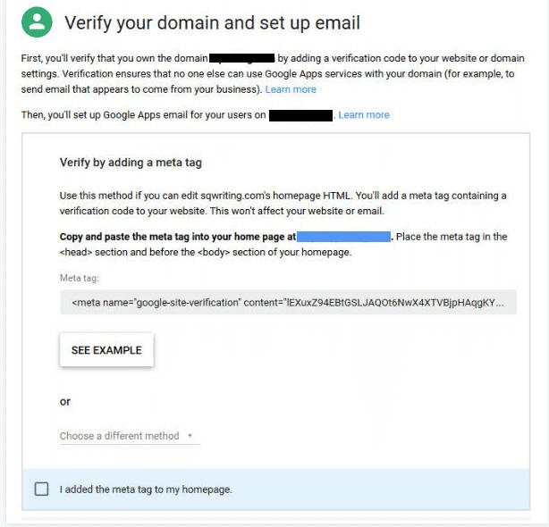 Domain Verification - Google Apps